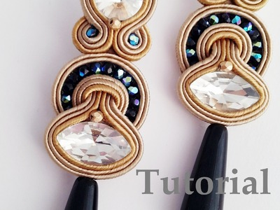 TUTORIAL incastonatura navetta e inserimento perline -DIY soutache earring