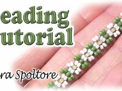 BeadsFriends: bead flowers for beginners - Daisy chain - DIY ring, bracelet, necklace