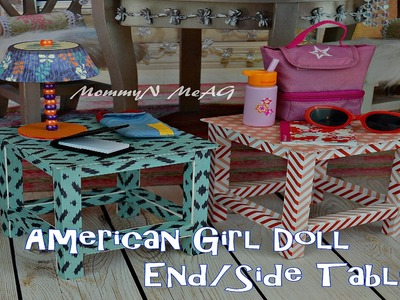 DIY an American Girl Doll  End Table. Side Table | How to make a table for your Doll house