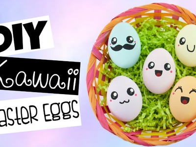 DIY Cute.Kawaii Easter Eggs With Different Expressions