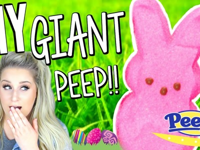 DIY GIANT PEEP | How to make a Giant Easter Peep with Real Marshmallow!!