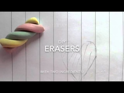 DIY| No clay erasers! Two ingredients!