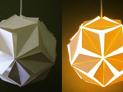 DIY pendant lamp.lantern (5 petals) - home and room decor - EzyCraft