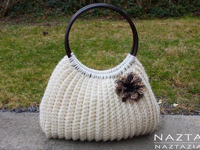 DIY Tutorial Easy Crochet Savvy Handbag Purse Tote - Croche Bolsa Bag