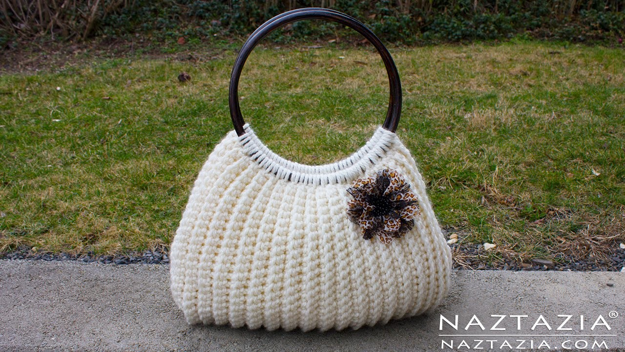 Crochet Simple Bag : DIY Tutorial Easy Crochet Savvy Handbag Purse Tote - Croche Bolsa Bag ...
