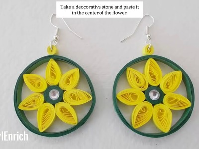 Easy DIY Jewelry : How to Make Beautiful Paper Earrings at home?