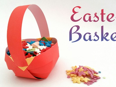 "How to make a paper ""Easter basket"" - Craft Tutuorial"