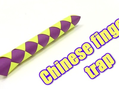 How to Make Chinese finger trap  - Yakomoga Origami tutorial