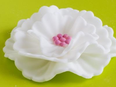 How to make Fondant Flowers - Cake Decorating Tutorial   HappyFoods