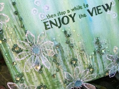 Mixed Media Canvas - Imagination - A Faber Castell Design Memory Craft Tutorial