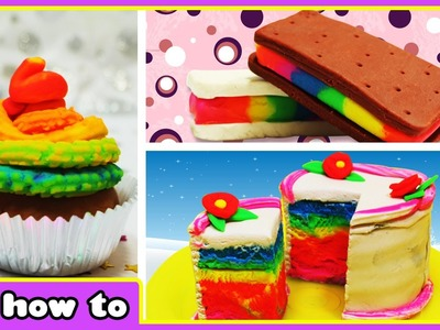 Play Doh Rainbow | Easy Play Doh Creations videos by HooplaKidz How To