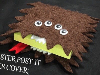 DIY Monster Post-it Notes Cover inspired by the Monster Book of Monsters from Harry Potter