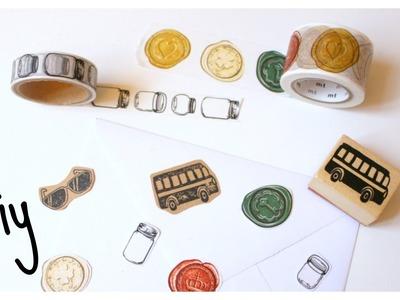 DIY Washi tape & Stamped Paper Embellishments