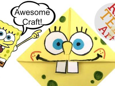 Easy Spongebob Craft Corner Bookmark (BONUS VIDEO!) Cool Craft Idea
