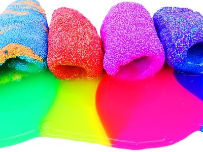 Foam Slime Eggs Learning Colors Game & Surprise Eggs DIY Rainbow Foam Slime by DisneyCarToys