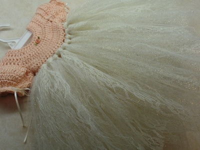 How to #Crochet and Tulle No Sew Newborn Dress Photo Prop  #TUTORIAL #302