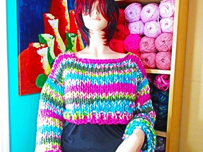 How to knit a crop top sweater - with Ruby Stedman