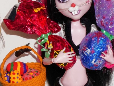 How to make a doll Easter Egg for Barbie, Monster High, Frozen.
