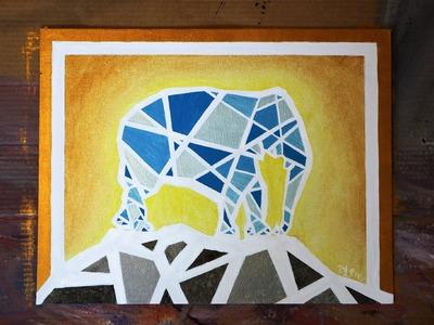 How to Paint a GEOMETRIC MOSAIC ELEPHANT
