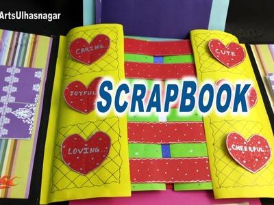 Multi-fold scrapbook Tutorial | How to make Love Scrapbook | JK Arts 907