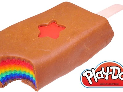 Play Doh Rainbow Chocolate Popsicle * How To Make Playdough Popsicle Rainbow Color