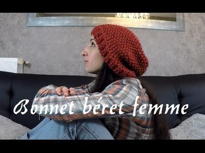 Tricoter un béret femme simple et rapide. DIY knit beret Women
