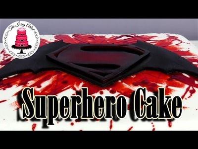 Batman VS Superman DC Superhero Cake - How To With The Icing Artist