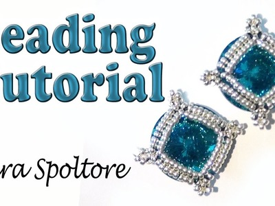 BeadsFriends: beading tutorial - DIY earring or bracelet - How to make beaded jewelry