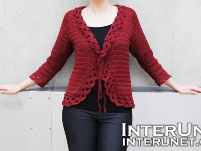 Crochet triple stitch cardigan jacket. Part 1 of 2