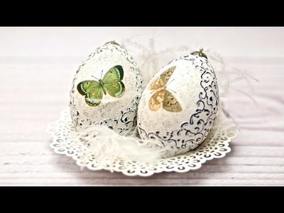 Decoupage ester egg  tutorial ---- DIY  By Catherine :)