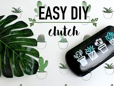 DIY Cacti Upcycled Clutch