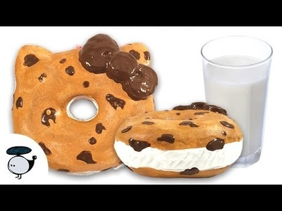 DIY DECO SQUISHY TUTORIAL: CHOCOLATE CHIP COOKIE SANDWICH