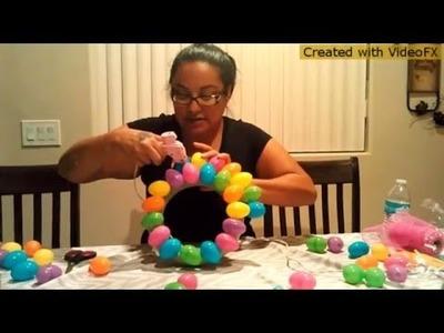 DIY Dollar Tree Easter egg Wreath