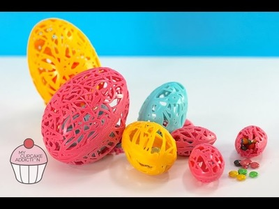 DIY Easter Eggs | Nested Chocolate Lace Bowls | My Cupcake Addiction