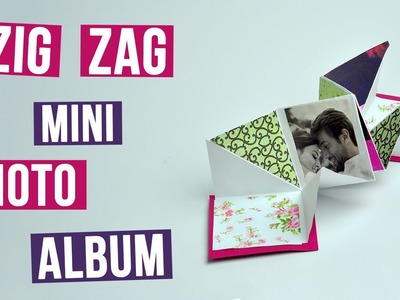 DIY Handmade Zig Zag Mini Photo Album