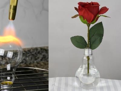 DIY ideas: Light Bulb Vase with a Flat Bottom
