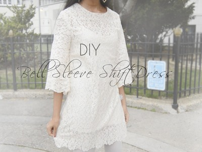 DIY Lace Shift Dress with Bell Sleeves ft Pure Tatts