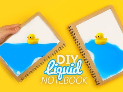 DIY | LIQUID NOTEBOOK - Tutorial!