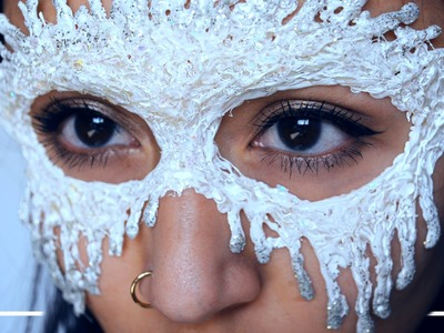 DIY Masquerade Mask - Ice Queen - ShelingBeauty