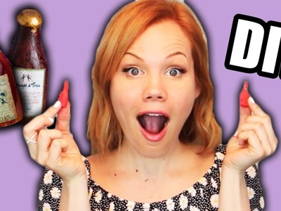 DIY MINI EDIBLE WINE BOTTLES!