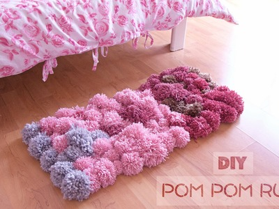 DIY Pom Pom Rug - Bedroom Decor Tutorial