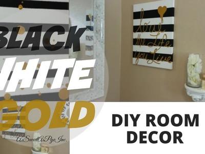 DIY Room Decor! (Black, White, & Gold)