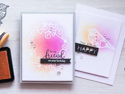 DIY Stencils for Card Using Dies