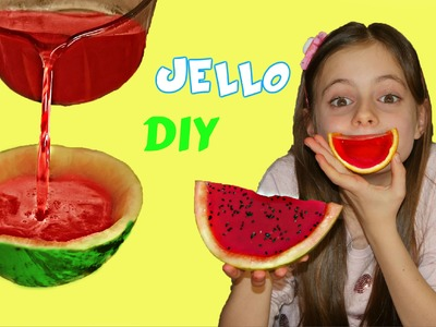DIY - Watermelon Candy Gummy  Jello.  Kids Dessert