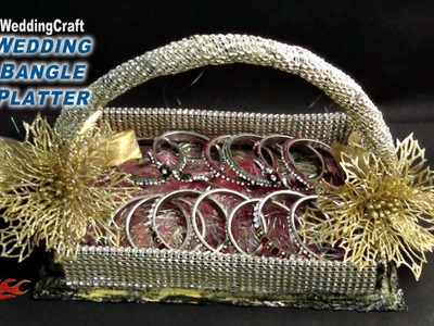 DIY  Wedding Gift Basket for jewelry, bangles  | How to make | JK Wedding Craft 073