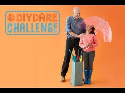 #DIYDARE: How to Make a Concrete Umbrella Stand