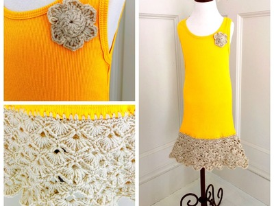 Easy Crochet Upcycled Tank Top Dress