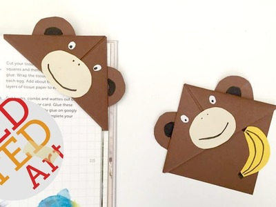 Easy Monkey Bookmark Corner DIY (BONUS VIDEO!!)