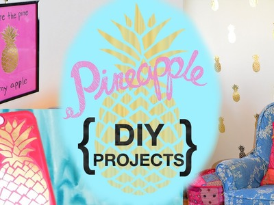 Gold Pineapple Decal DIY Projects