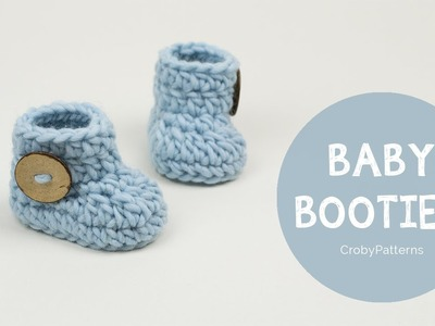 How to Crochet Fast and Easy Crochet Baby Booties by Croby Patterns